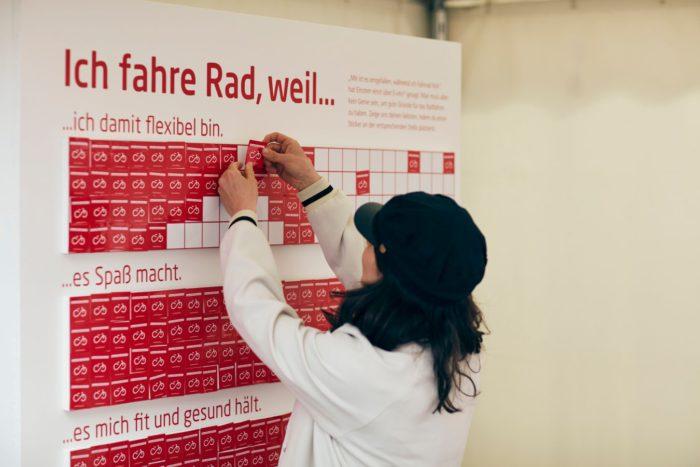 Das Bike Festival fand am 14. und 15. April 2018 am Rathausplatz statt. Es ist das größte Fahrrad-Event Europas. Am Fahrrad Wien Stand gibt es Infos rund ums Radfahren in Wien. Foto: Ian Ehm