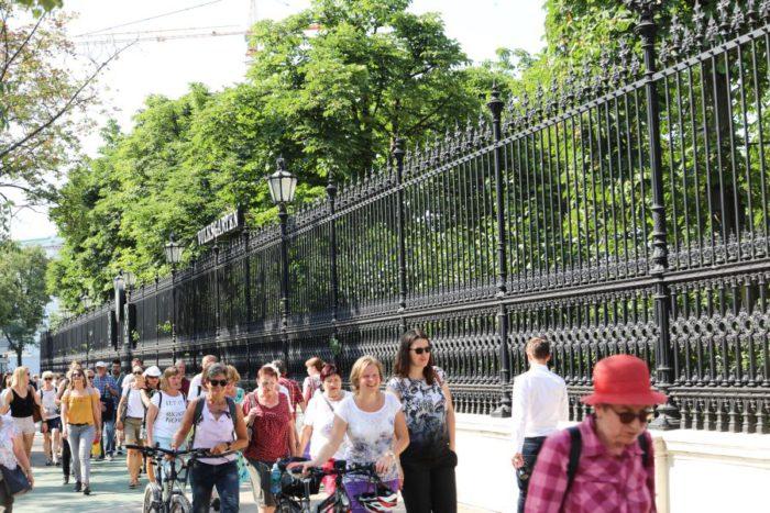 Anlässlich des 100. Jubiläums der Republik besuchte das Geh Café im Juni 2018 geschichtsträchtige Orte im 1. Bezirk Wiens. Foto: Christian Fürthner