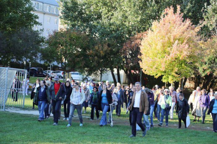 Am 5. Oktober 2018 begibt sich das Geh-Café gemeinsam mit Gemeinderat Josef Taucher und der Fußgängerbeauftragten Petra Jens auf Entdeckungstour in die Donaustadt. Foto: Christian Fürthner