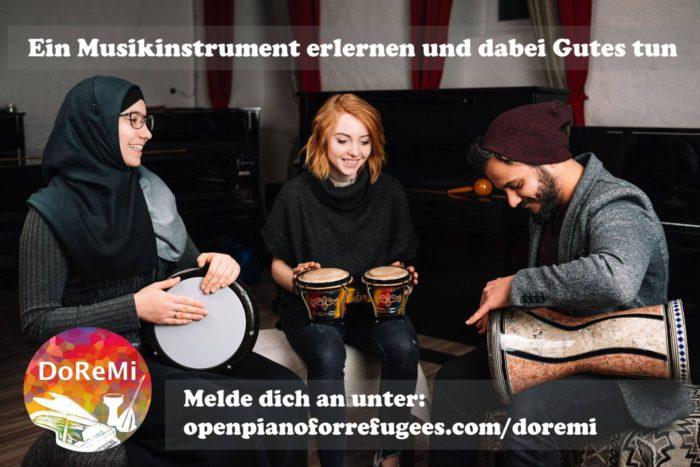 Bei DoReMi können sozial benachteiligte Menschen ein Musikinstrument erlernen. Foto: DoReMi