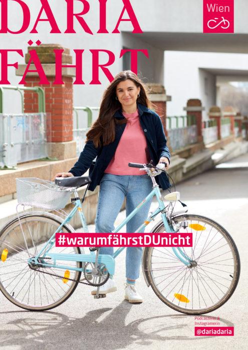 Influencerin Daria hat uns erzählt warum das Radfahren für sie wichtig ist. #warumfährstDUnicht. Foto: Ian Ehm