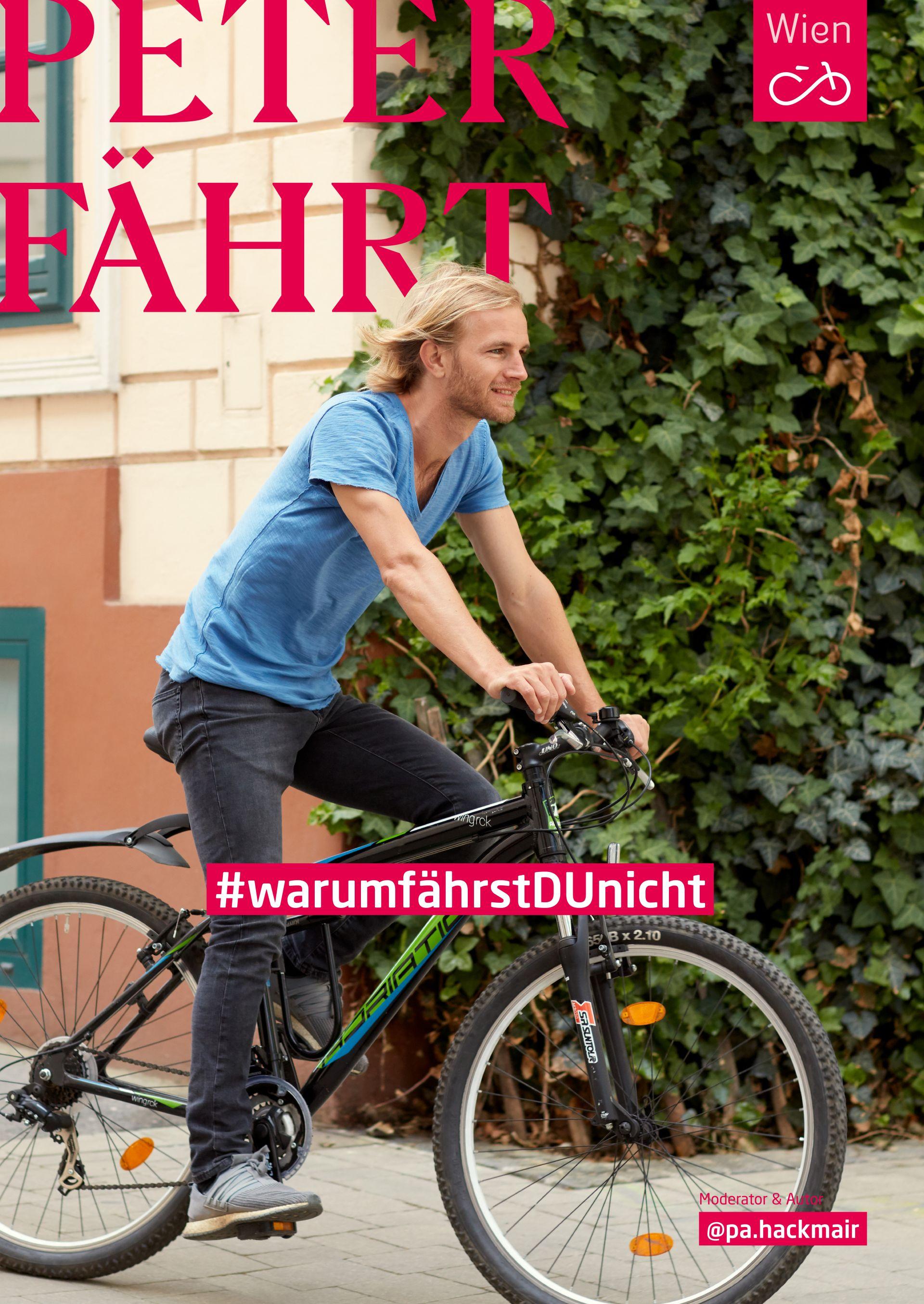 Ex-Fußballprofi Peter Alexander Hackmair fährt leidenschaftlich gerne Fahrrad. Foto: Ian Ehm