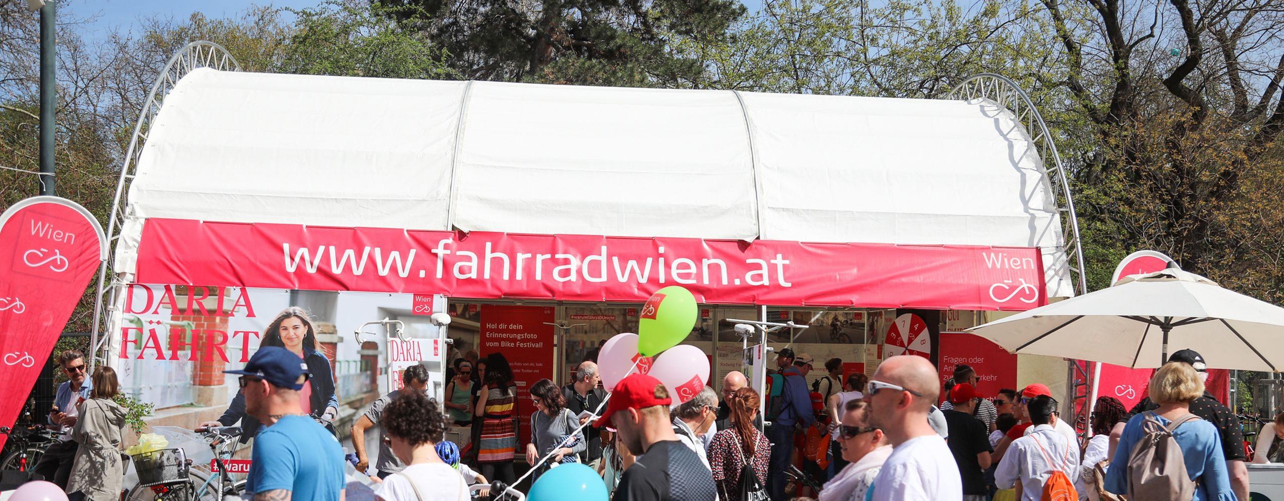 Das Bike Festival fand am 14. und 15. April 2018 am Rathausplatz statt. Es ist das größte Fahrrad-Event Europas. Am Fahrrad Wien Stand gibt es Infos rund ums Radfahren in Wien. Foto: Christian Fürthner