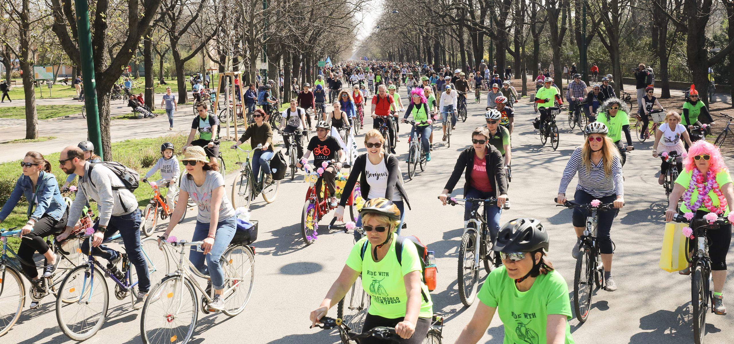 Tausende RadlerInnen fuhren bei der Radparade 2019 mit.